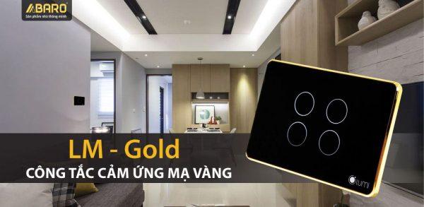 Công tắc điều khiển từ xa mạ vàng Lumi LM-GOLD 4